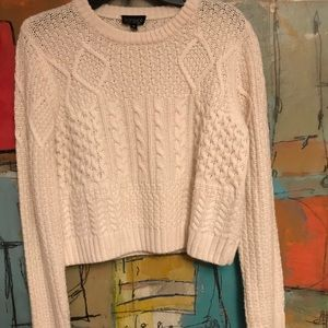 Sweaters - Cream cropped sweater - TOPSHOP